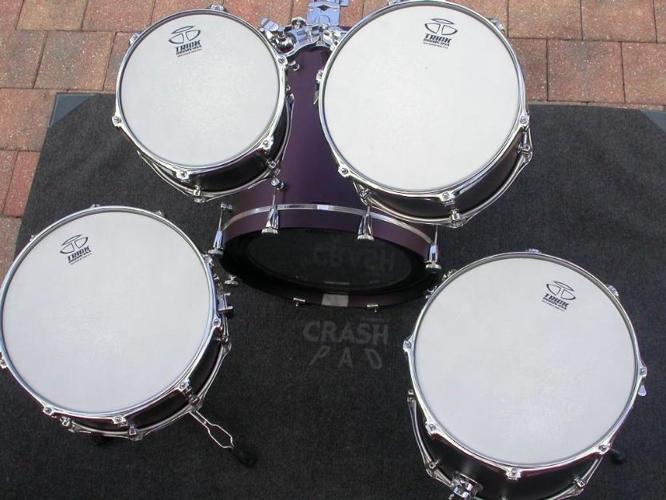 one of a kind factory custom ordered trick drum set 18101214 snare drum for sale in denver. Black Bedroom Furniture Sets. Home Design Ideas