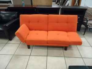 Orange Sofa Bed - (Hattiesburg, MS for sale in Hattiesburg, Mississippi