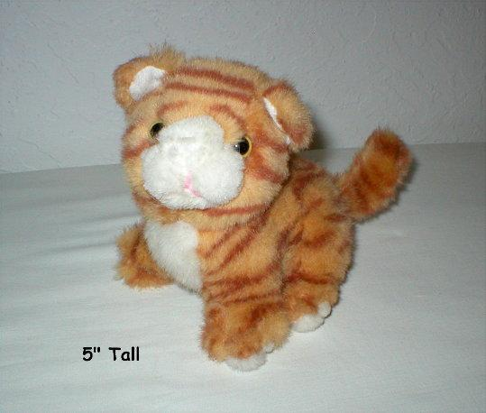 Orange Tabby Kitty Toy - Sits 5