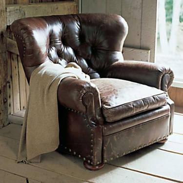 ORDER NEW Ralph Lauren Leather Writeru0027s Chair U0026 Ottoman
