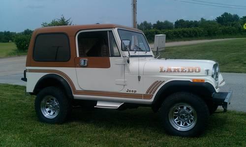 original 1986 jeep cj7 laredo for sale in ashland missouri classified. Black Bedroom Furniture Sets. Home Design Ideas