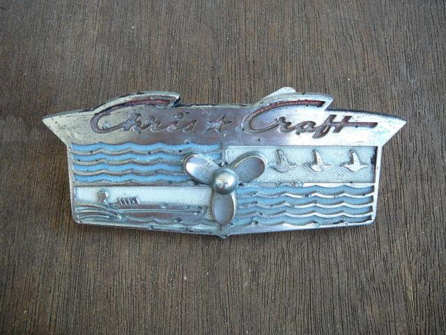 Original Chris Craft PROP Logo Plate