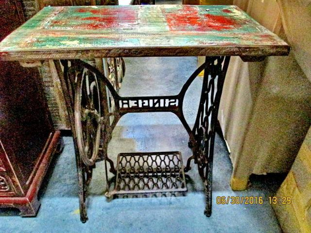 Original Singer Sewing Machine Table from Asian Images