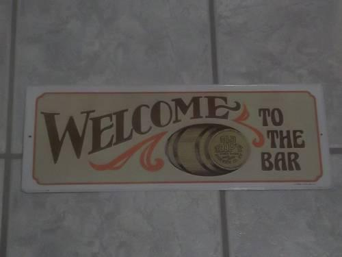 Original Vintage 1974 Welcome To The Bar Old Ripy Tin