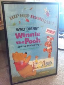 Original Winnie The Pooh Disney Movie Poster - $70