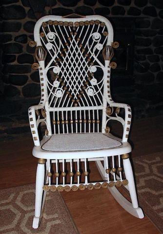 Ornate Antique Victorian Wicker Rocking Chair & Ornate Antique Victorian Wicker Rocking Chair for Sale in Concord ...