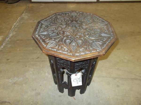 Ornate Carved Taborette for Sale in Greenwich