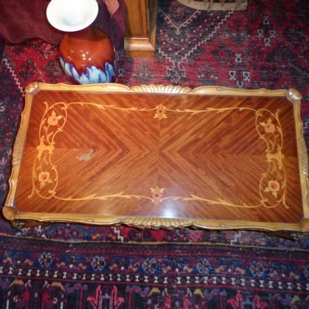 Ornate French Coffee Table - $250