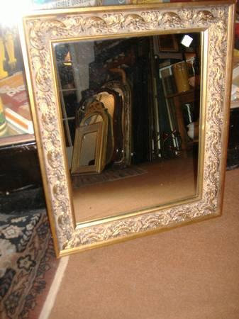 Ornate Gold Gilt Picture Frame Wall Mirror Vintage Fancy