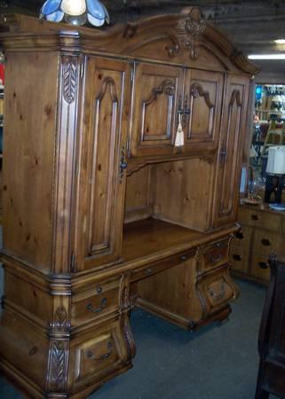 Ornate Office Secretary Desk Cabinets For Sale In Austin Rhode