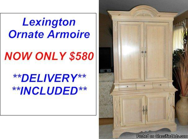 Ornate Wood Armoire By Lexington Furniture