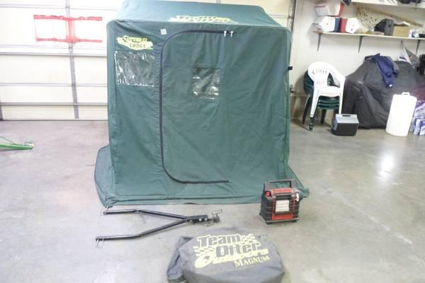 otter sled portable fish house pictures to pin on