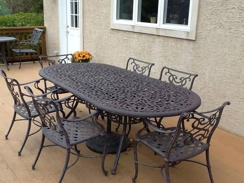 Beau Outdoor Cast Iron Patio Furniture