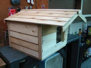 Outdoor Cat House - Cedar Wood , Insulated, brand new , never used ...