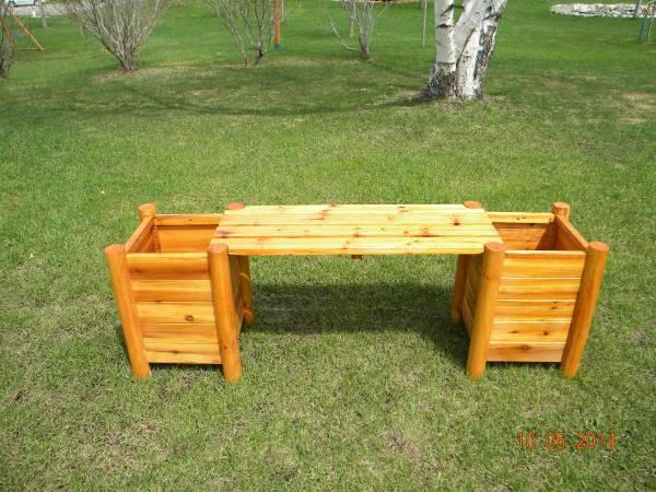 outdoor crafted cedar or pine wood furniture for sale