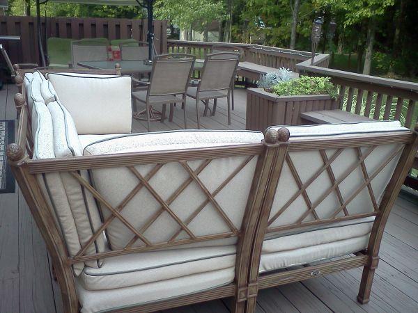 Outdoor Patio Set Hampton Bay - (Geneva) For Sale In Ashtabula, Ohio Classified