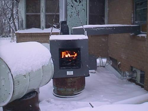 Outdoor Wood Furnace forced air