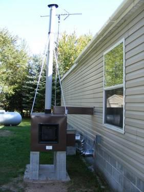 Outside Wood Heater Forced Air System For Sale In Cullman