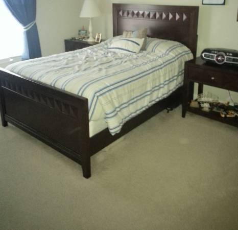 Outstanding Wooden Full Bedroom Set For Sale In
