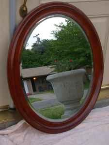 Oval Cherry Wood Mirror Citrus Heights For Sale In