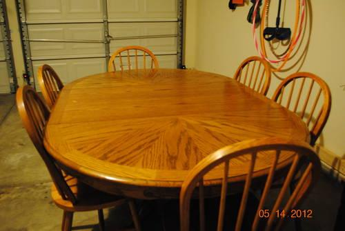 Oval Dining Kitchen Table W 6 Chairs Removable Leaf For Round Tabl For Sale In Simpsonville
