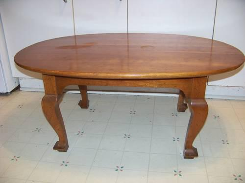 Oval Stickley Coffee Table Cherry Valley