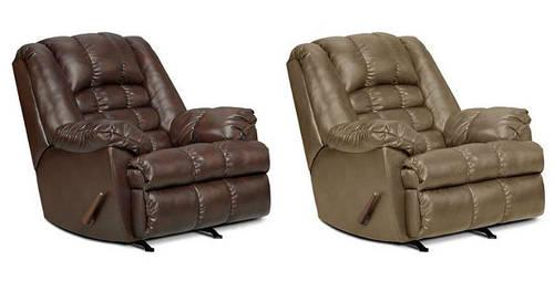 Over Sized Genuine Bonded Leather Recliner For Sale In