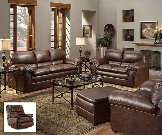 Over Stuffed Leather Sofa S