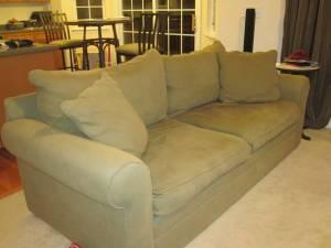 Pleasing Oversized Couch Chair Ottoman And Console Table West Inzonedesignstudio Interior Chair Design Inzonedesignstudiocom