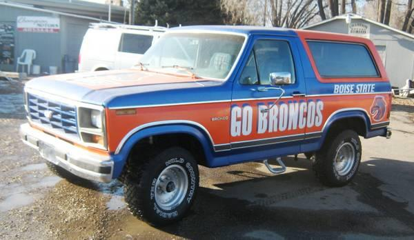 own a boise state bronco 1984 ford bronco 4x4 tribute to bsu broncos for sale in nampa. Black Bedroom Furniture Sets. Home Design Ideas