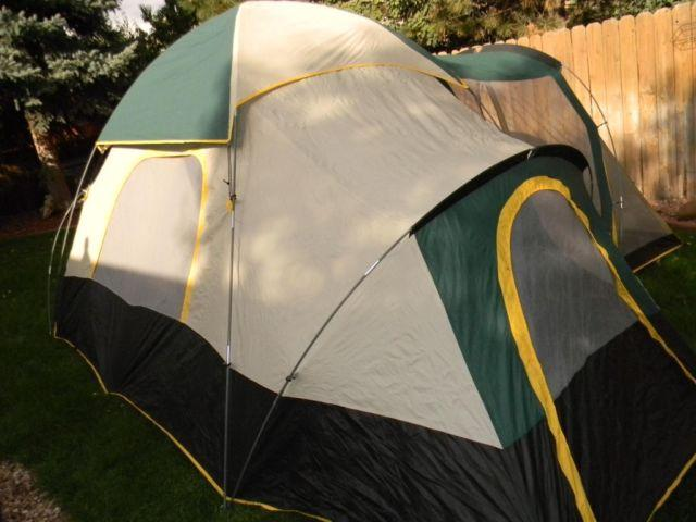Ozark Trail 6-Person Dome Tent with Extended Awning & Ozark Trail 6-Person Dome Tent with Extended Awning Porch - 17u0027 x ...
