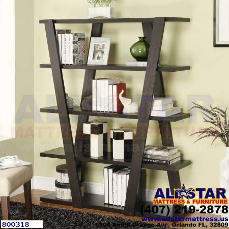 P2641 Bookcases Modern Bookshelf With Inverted Supports