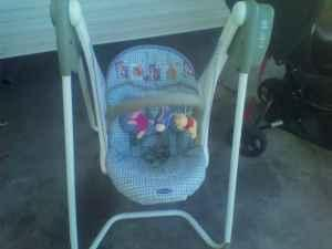 pack n play, baby swing - $60 council bluffs