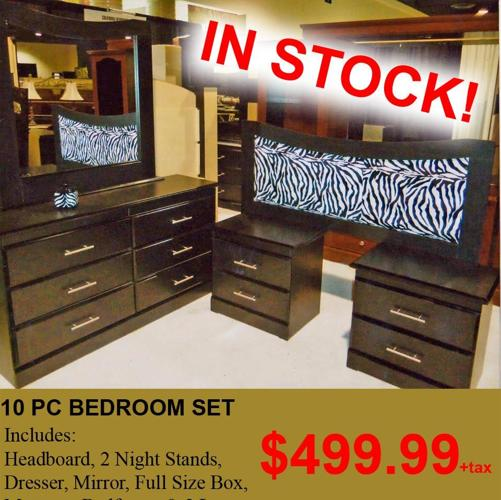 Package Deal Includes Head Board 2 Night Stands Dresser Mirror Full Liquidation Wholesale