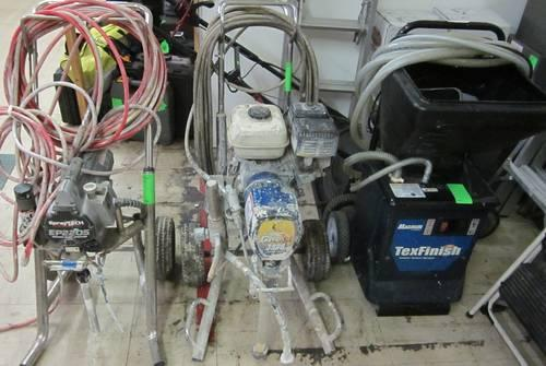 Paint sprayers gas electric and texfinish all running for Paint sprayers for sale