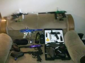 Paintball Equipment - Tons of stuff