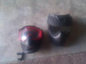 Paintball masks, CO2 tanks, and knee pads - $60 (Visalia, CA)