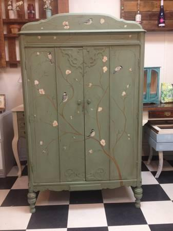 Painted vintage armoire - $499