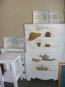 Painted White Chest And Other
