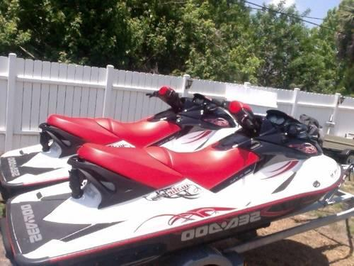 Pair 2008 Sea Doo Wake 155 Jet Skis With Trailer For Sale