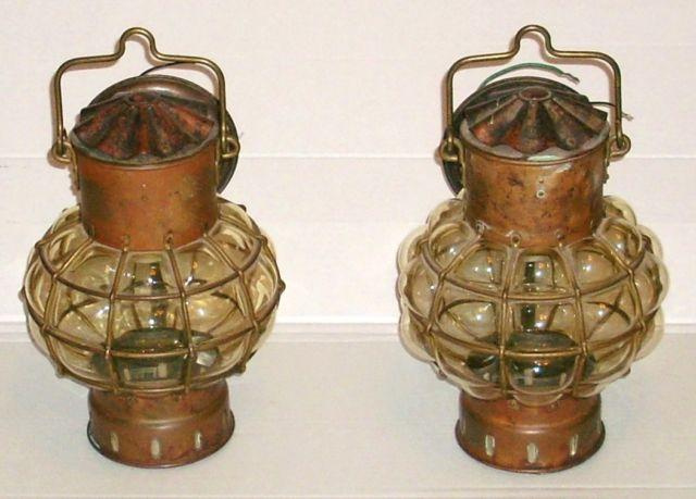 PAIR DHR HOLLAND DEN HAAN ROTTERDAM COPPER & BRASS
