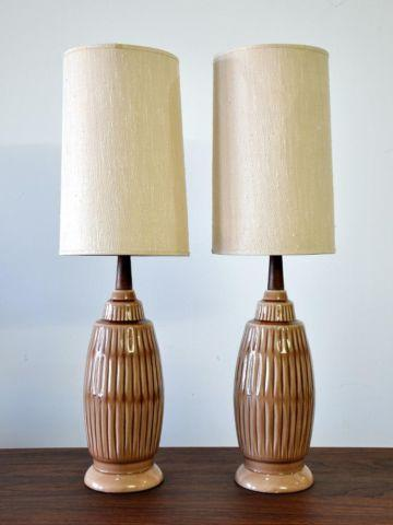 Pair Of 1960s Mid Century Danish Modern Table Lamps