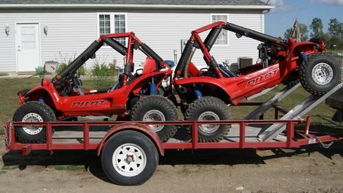 Pair of 1989 Honda Pilot FL400R ATV's with custom