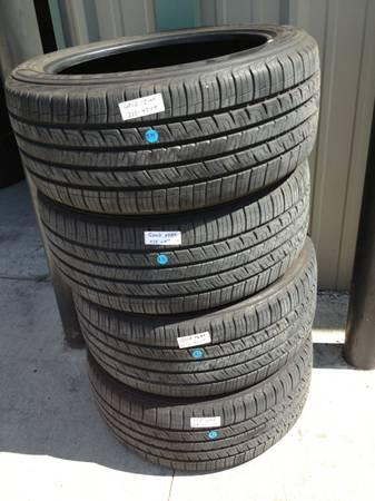 PAIR OF 235 45 R17 GOODYEAR TIRES 80% TREAD 30000 MILE