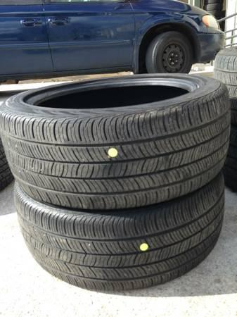 Pair Of 245 45 R19 Continental Tires 60 Tread With Warranty For