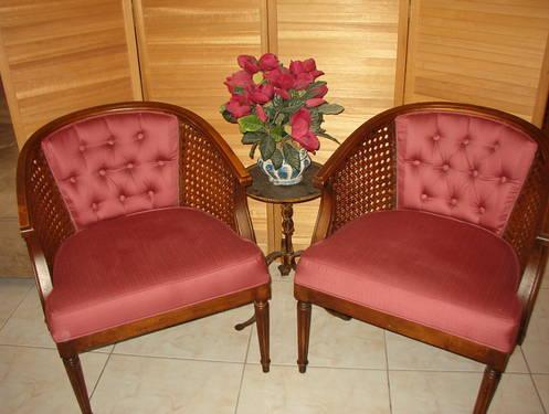 Pair of Cane Side Armchairs.