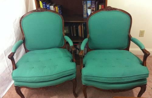 Enjoyable Pair Of French Bergere Chairs Teal Antique Vintage Arm Download Free Architecture Designs Scobabritishbridgeorg