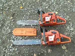 Pair of Husqvarna 55 chainsaws - $150 (Prattsburgh)