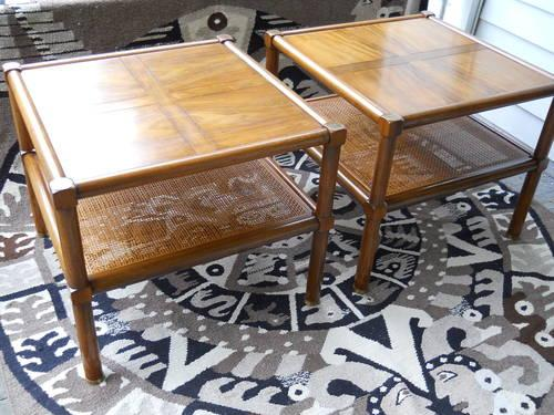 Exceptionnel Pair Of Mid Century Michael Taylor Lounge Tables By