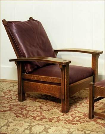 Pair Of Morris Chairs Stickley Style Quarter Sawn Oak